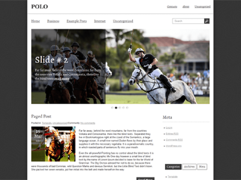 POLO-FREE THEME WORDPRESS SPORT