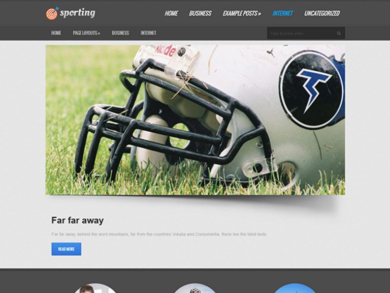 SPORTING FREE RESPONSIVE SPORT WORDPRESS THEME