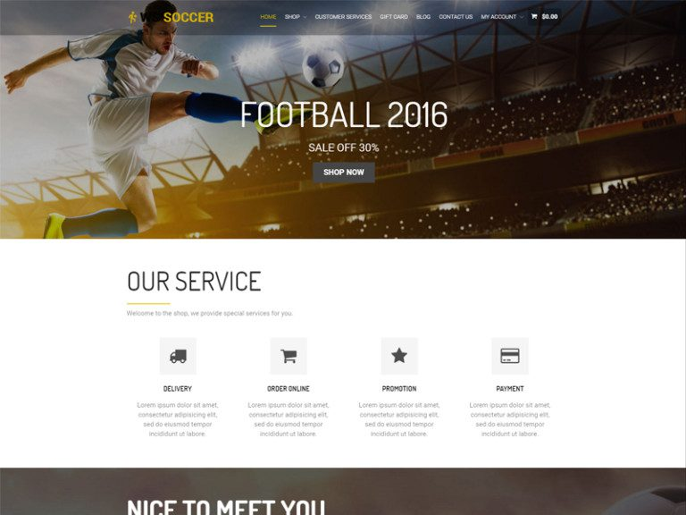 WS SOCCER FREE RESPONSIVE WORDPRESS WOOCOMMERCE THEME FOR SPORT