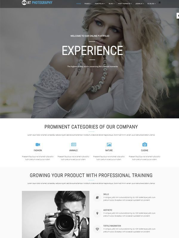 AT PHOTOGRAPHY FREE IMAGE JOOMLA TEMPLATE
