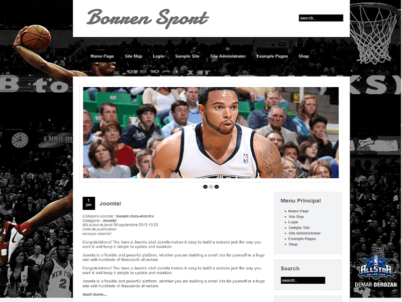 BORREN SPORT – FREE JOOMLA TEMPLATE BASKET BALL