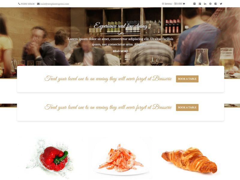 BRASSERIE FREE WORDPRESS THEME