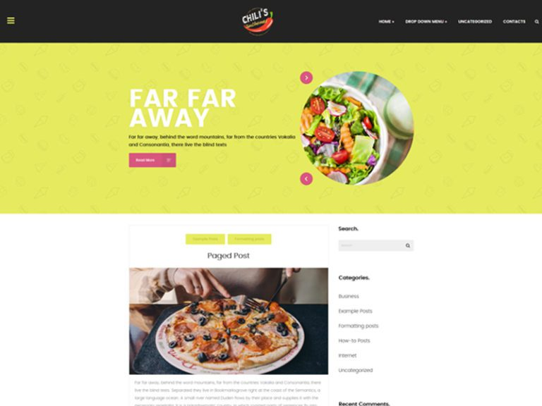 CHILIS FREE WORDPRESS THEME FOR RESTAURANT