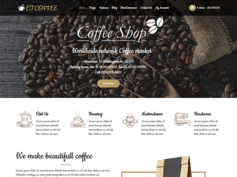 ET COFFEE FREE RESPONSIVE COFFEE WORDPRESS THEME