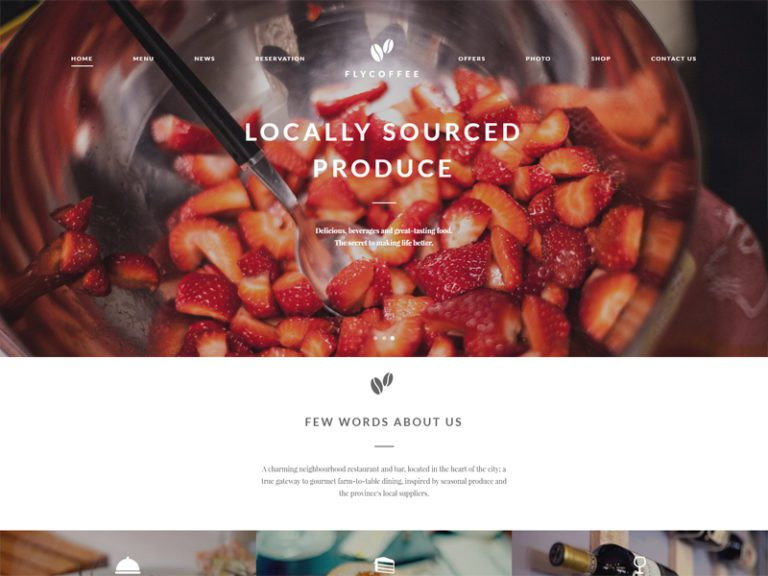 FLYCOFFEE WORDPRESS RESTAURANT THEME