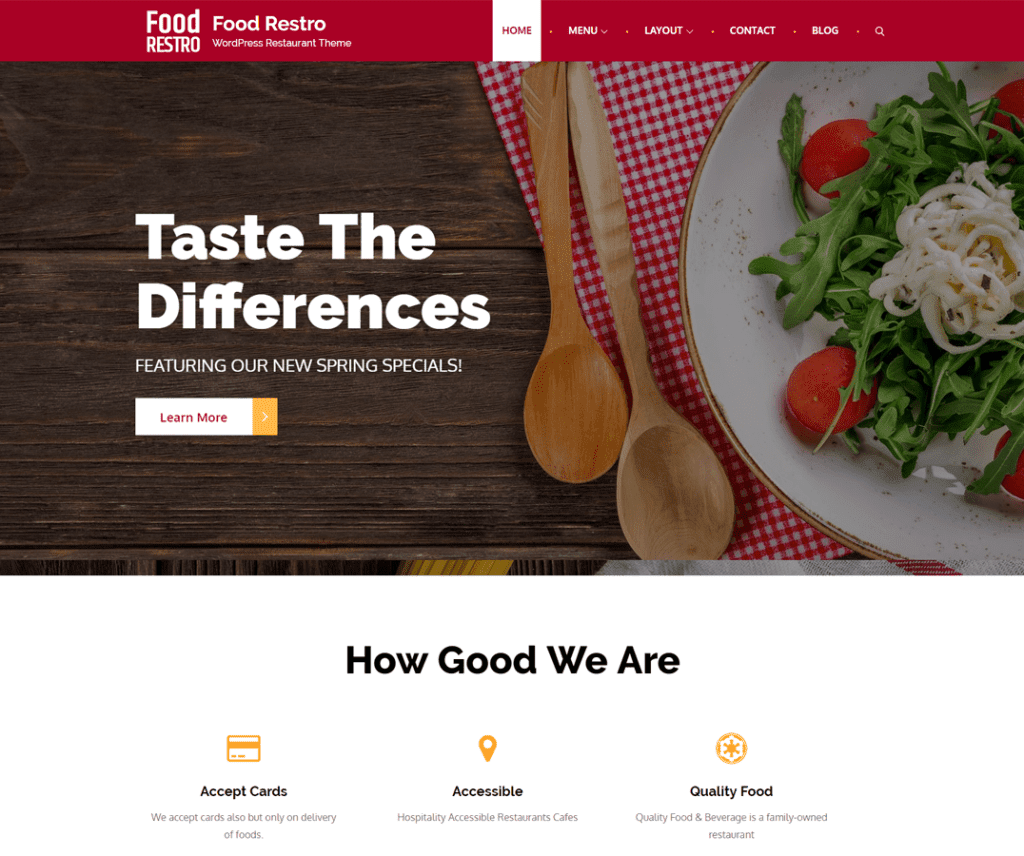 FOOD RESTRO FREE WORDPRESS ENTERTAINMENT THEME