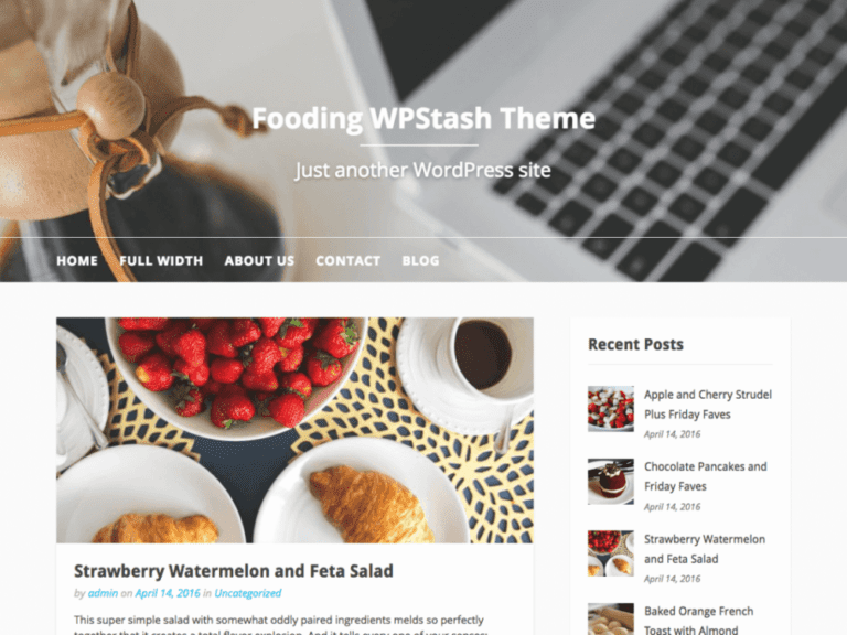 FOODING WORDPRESS RESTAURANT THEME