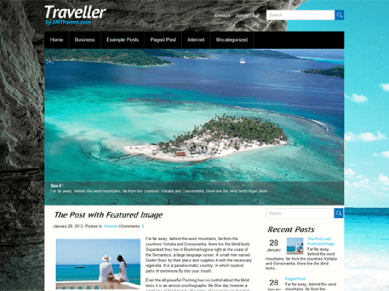 FREE THEME WORDPRESS TRAVELLER
