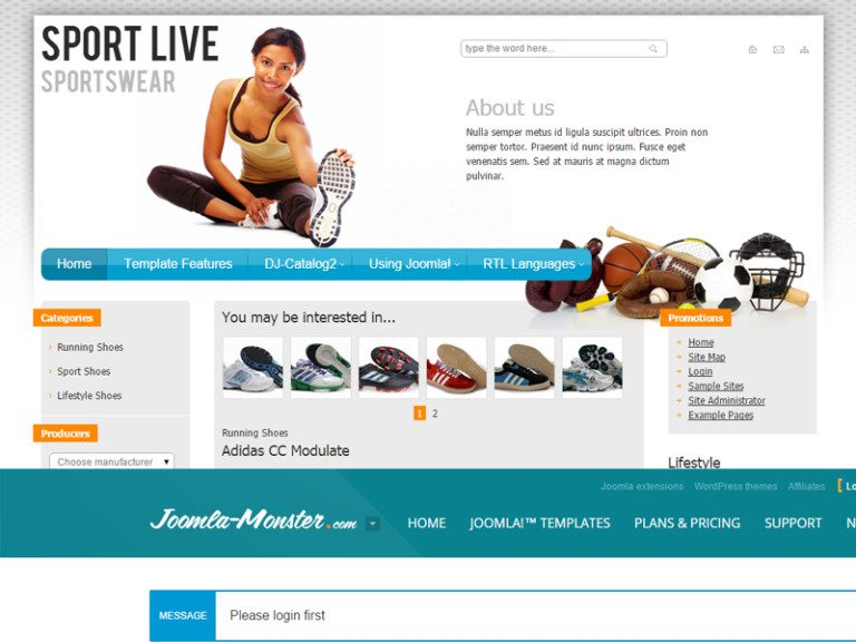 JM SPORT FREE JOOMLA TEMPLATE FOR SPORT