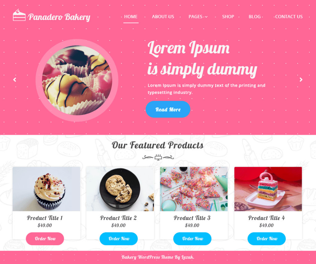 PANADERO BAKERY FREE WORDPRESS FOOD AND DRINK THEME