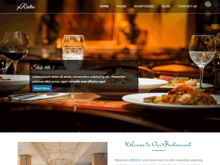 PRESTRO FREE WORDPRESS RESTAURANT THEME RESPONSIVE