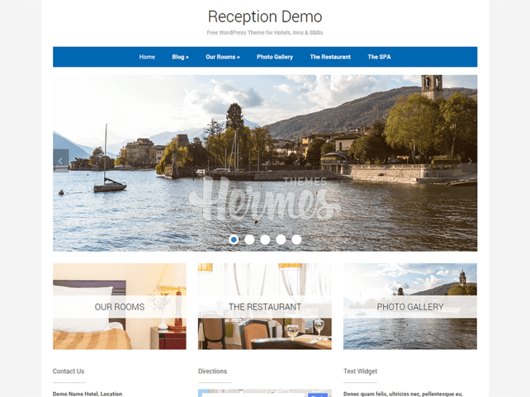 RECEPTION FREE TRAVEL WORDPRESS THEME