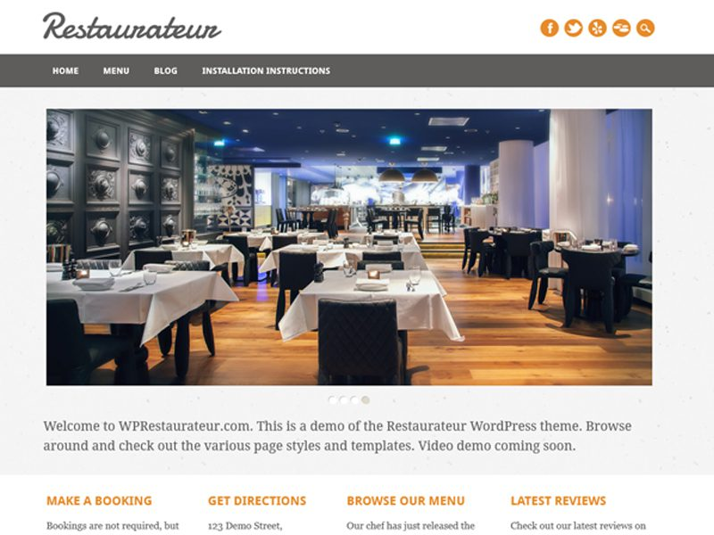 RESTAURATEUR FREE WORDPRESS RESTAURANT THEME