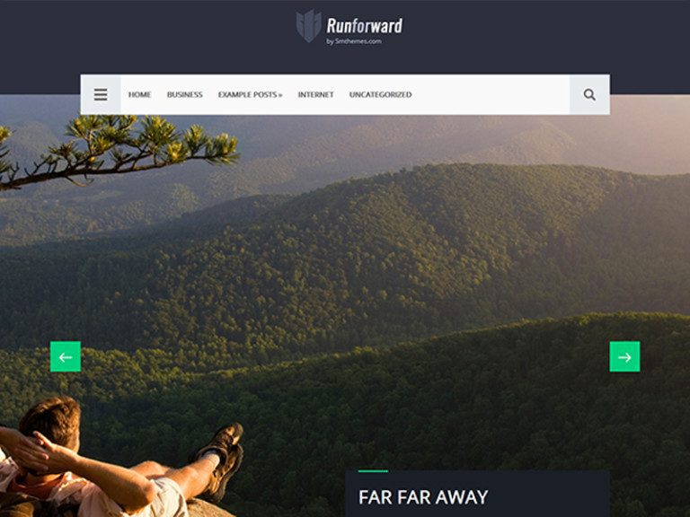 RUNFORWARD FREE TRAVEL BLOG WORDPRESS THEME