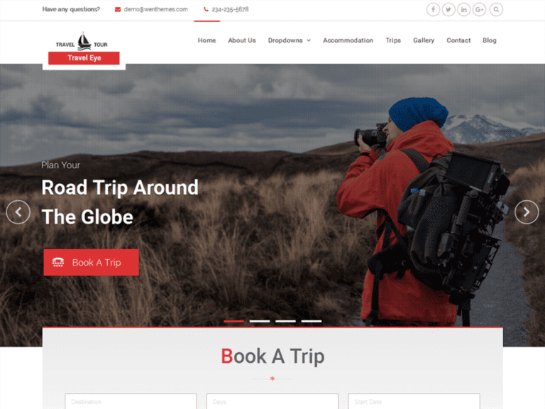 TRAVEL EYE FREE WORDPRESS TRAVEL THEME