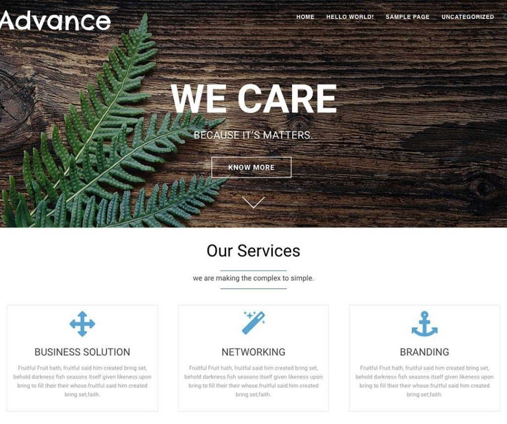 ADVANCE FREE HOLIDAY WORDPRESS THEME