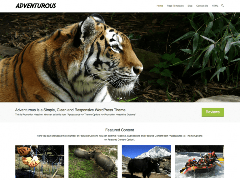 ADVENTUROUS FREE HOLIDAY WORDPRESS THEME