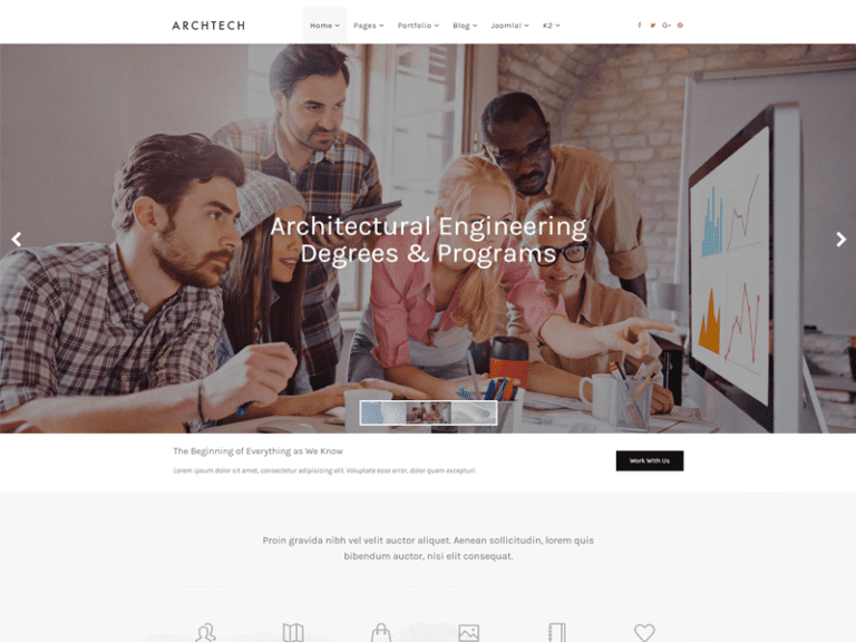 ARCHTECH FREE JOOMLA CONSTRUCTION TEMPLATE