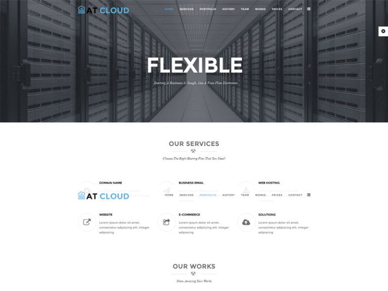 AT CLOUD ONEPAGE FREE JOOMLA TEMPLATE FOR SERVER