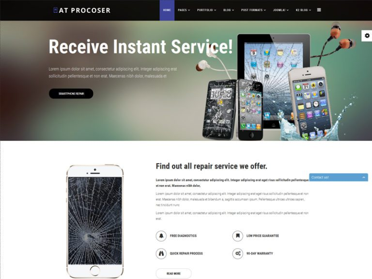 AT PROCOSER FREE MOBILE MAINTAINS JOOMLA TEMPLATE