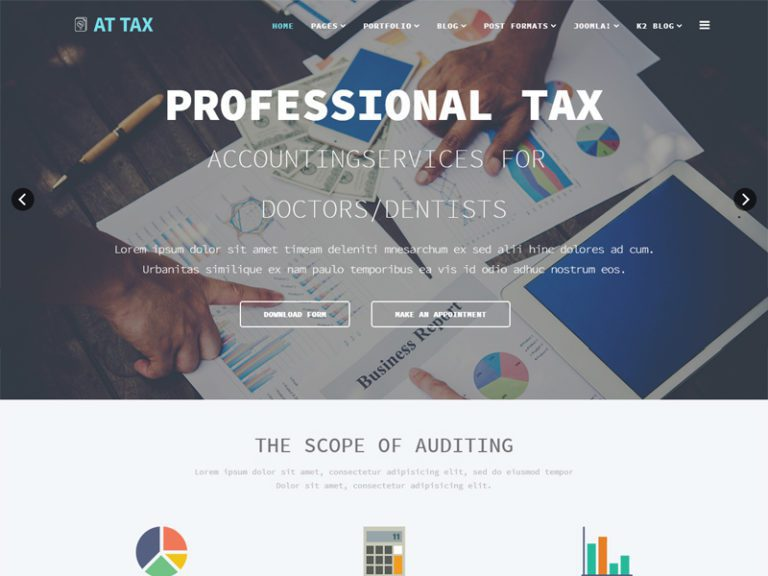 AT TAX FREE TAX WEBSITE JOOMLA TEMPLATE