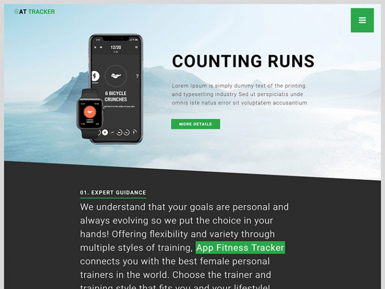 AT TRACKER FREE RESPONSIVE APP JOOMLA TEMPLATE