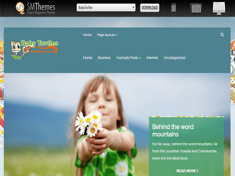 BABYTURTLES FREE WORDPRESS THEME FOR BABY