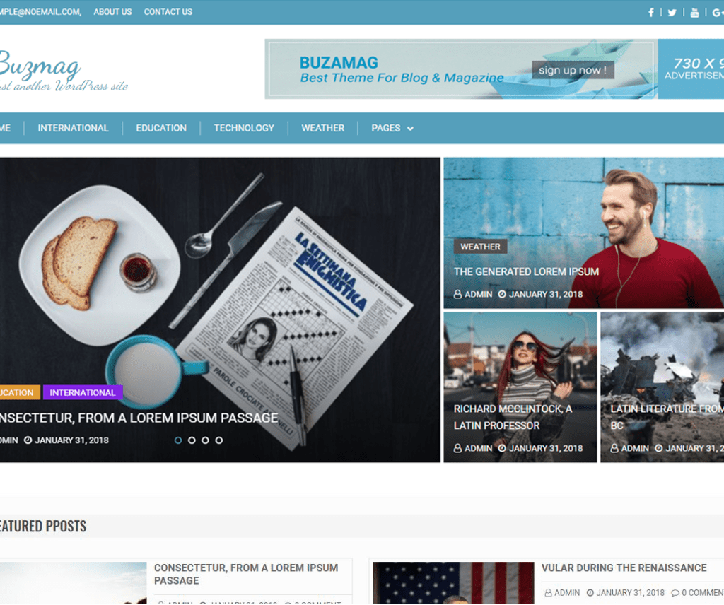 BUZMAG FREE HOLIDAY WORDPRESS THEME