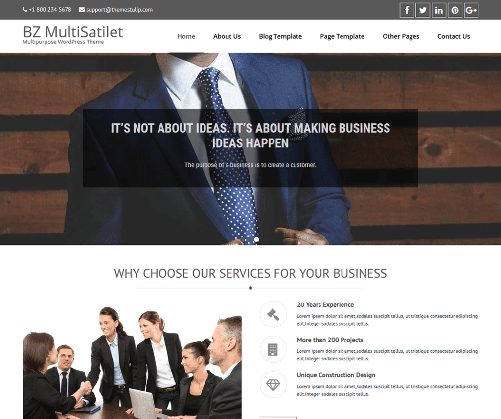 BZ MULTISATILET FREE PHOTOGRAPHY WORDPRESS THEME