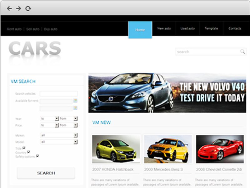 CARS FREE TEMPLATE FOR JOOMLA