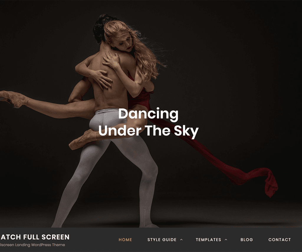 CATCH FULLSCREEN FREE PHOTOGRAPHY WORDPRESS THEME