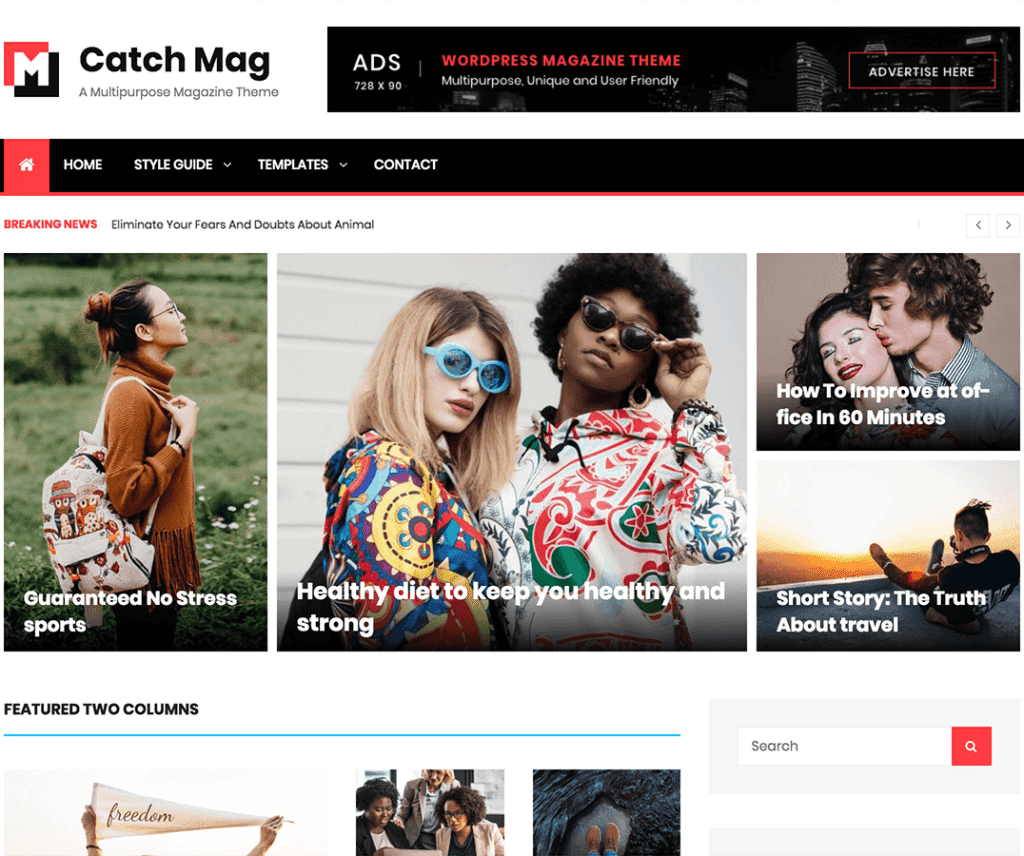 CATCH MAG FREE NEWS WORDPRESS THEME