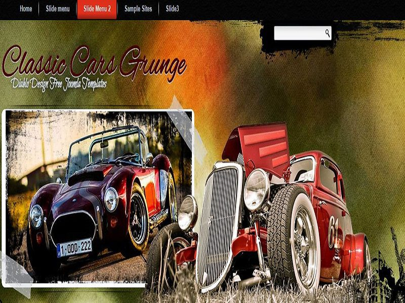 CLASSIC CARS GRUNGE – FREE JOOMLA TEMPLATE FOR CLASSIC CARS