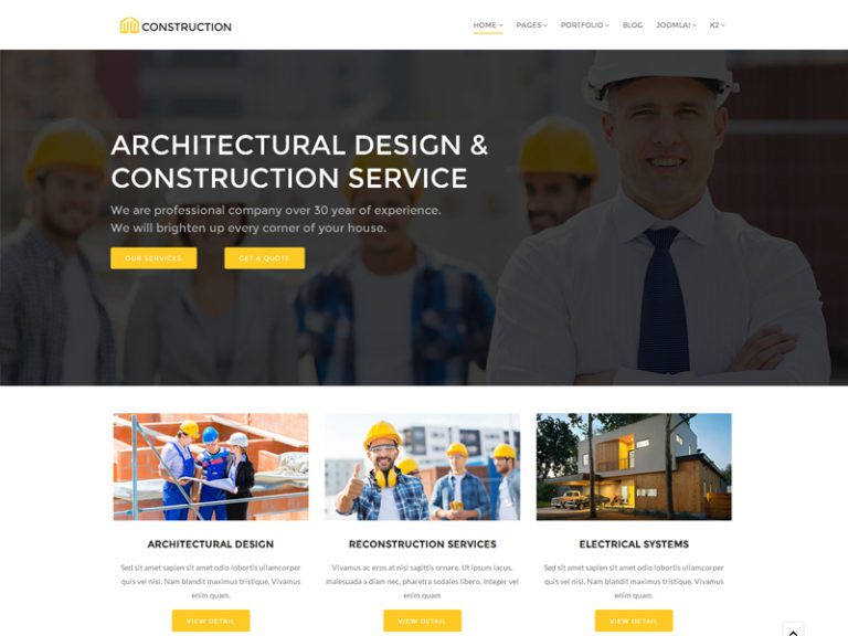 CONSTRUCTION FREE JOOMLA CONSTRUCTION TEMPLATE