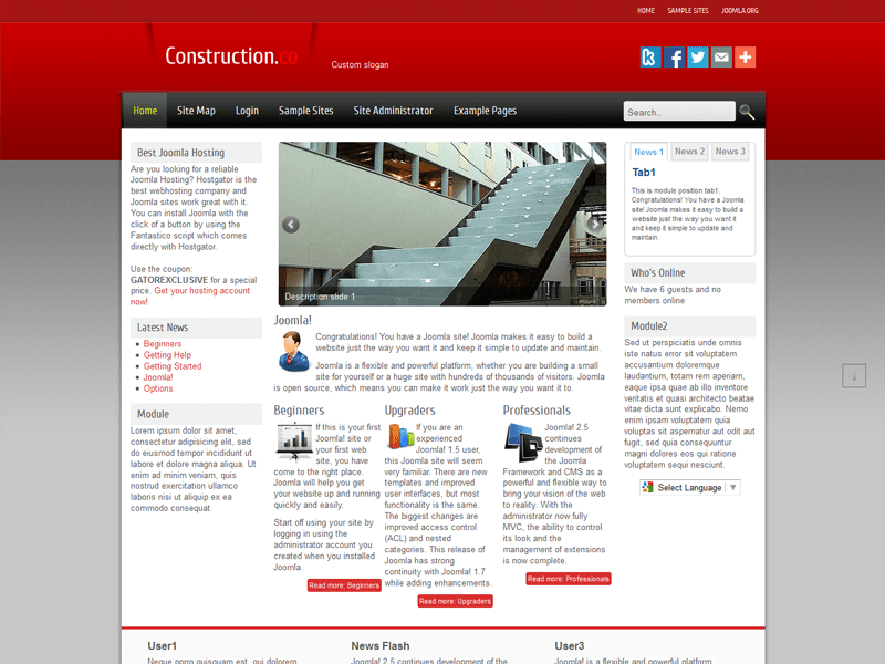 CONSTRUCTIONCO BEST FREE JOOMLA TEMPLATE