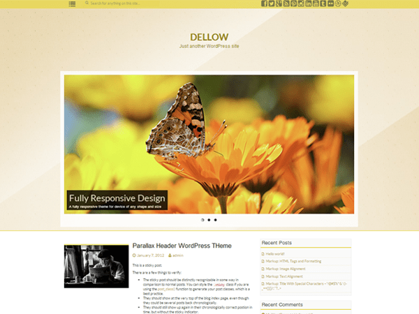 DELLOW FREE HOLIDAY WORDPRESS THEME