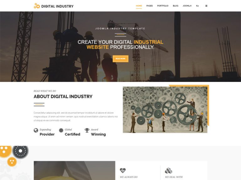 DIGITAL INDUSTRY JOOMLA CONSTRUCTION TEMPLATE