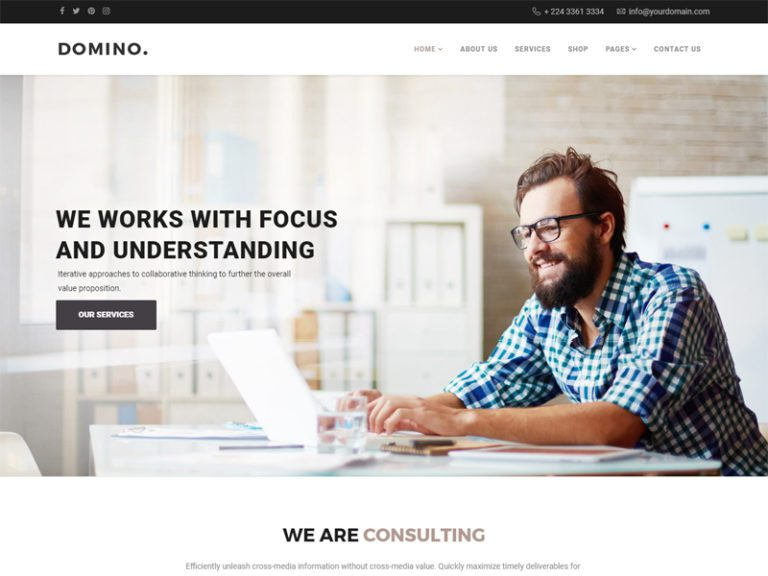 DOMINO JOOMLA BUSINESS TEMPLATE
