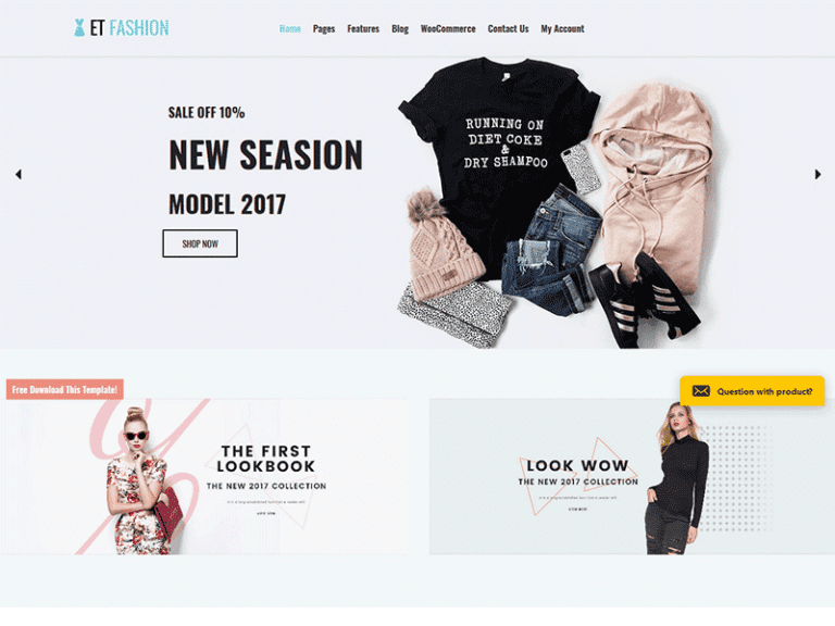 ET FASHION FREE RESPONSIVE FASHION WORDPRESS THEME