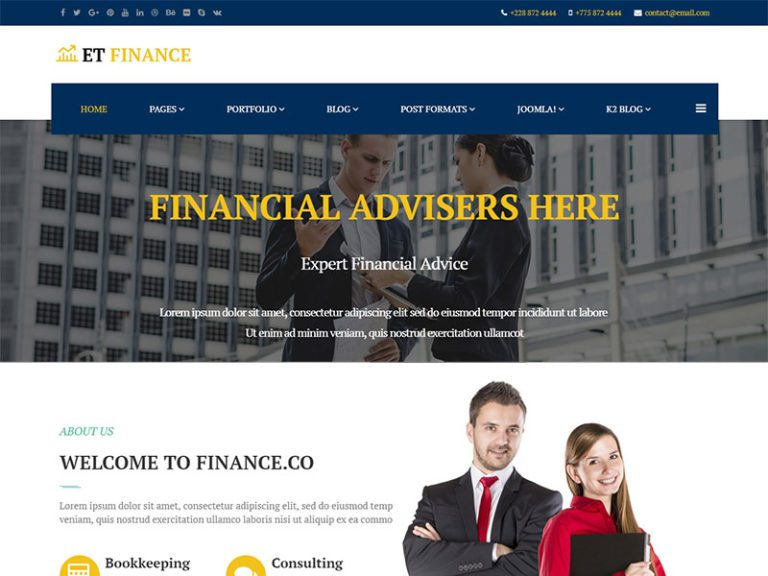 ET FINANCE FREE RESPONSIVE JOOMLA FINANCE TEMPLATE