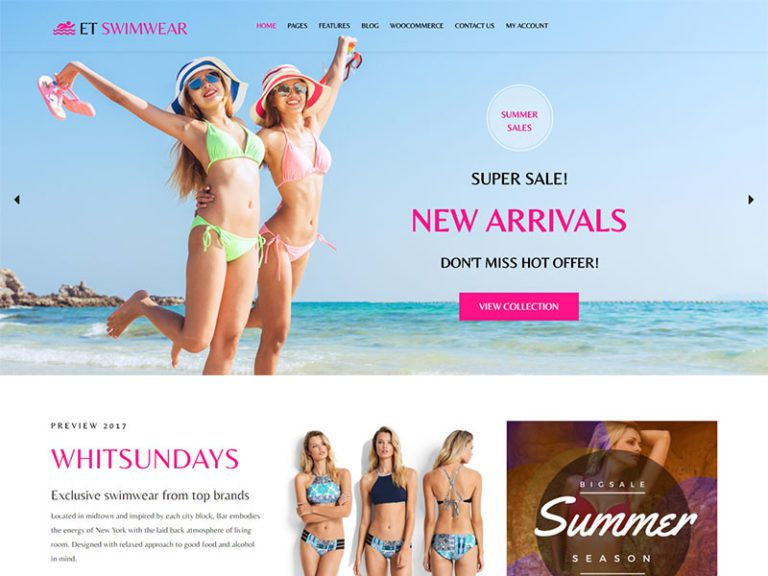 ET SWIMWEAR FREE RESPONSIVE CLOTHING WORDPRESS THEME