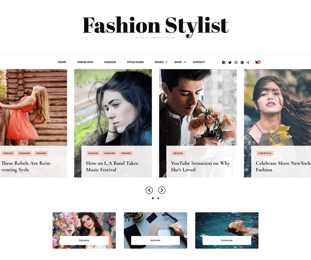 FASHION STYLIST FREE PHOTOGRAPHY WORDPRESS THEME