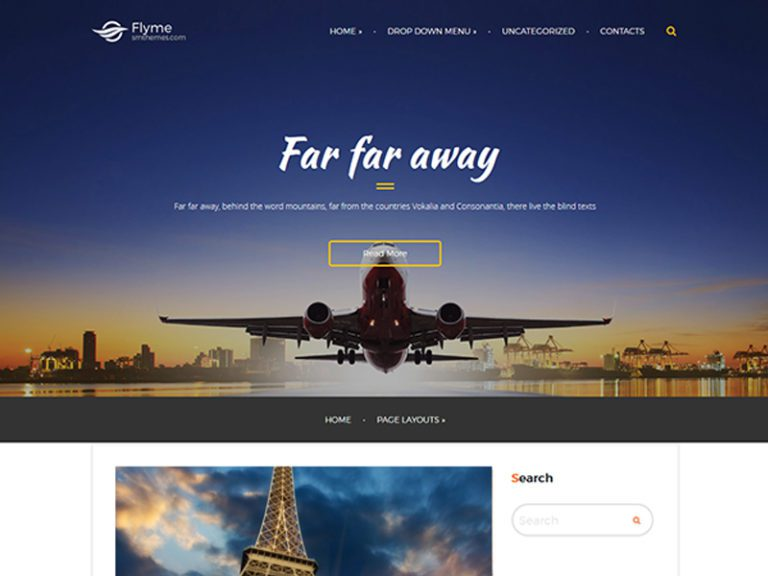FLYME FREE RESPONSIVE WORDPRESS THEME FOR VACATION