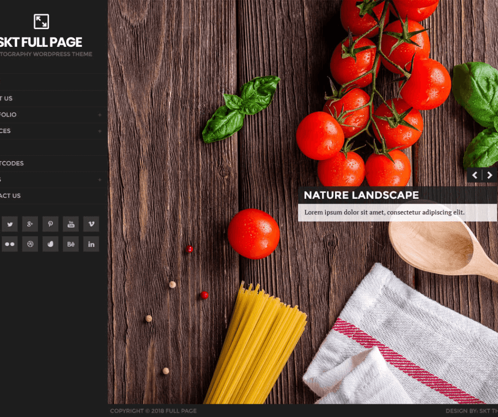 FULL PAGE FREE PHOTOGRAPHY WORDPRESS THEME