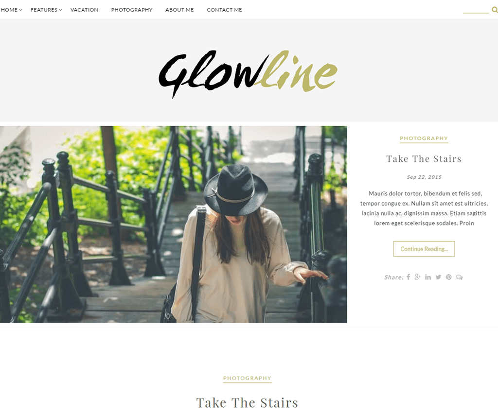 GLOWLINE WORDPRESS BLOG THEME