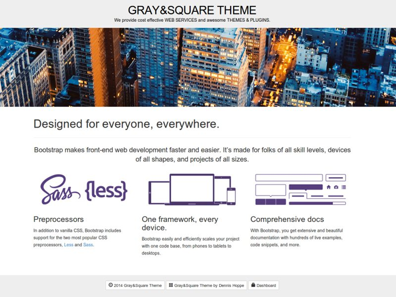 GRAY AND SQUARE FREE WORDPRESS THEME FOR MAGAZINE