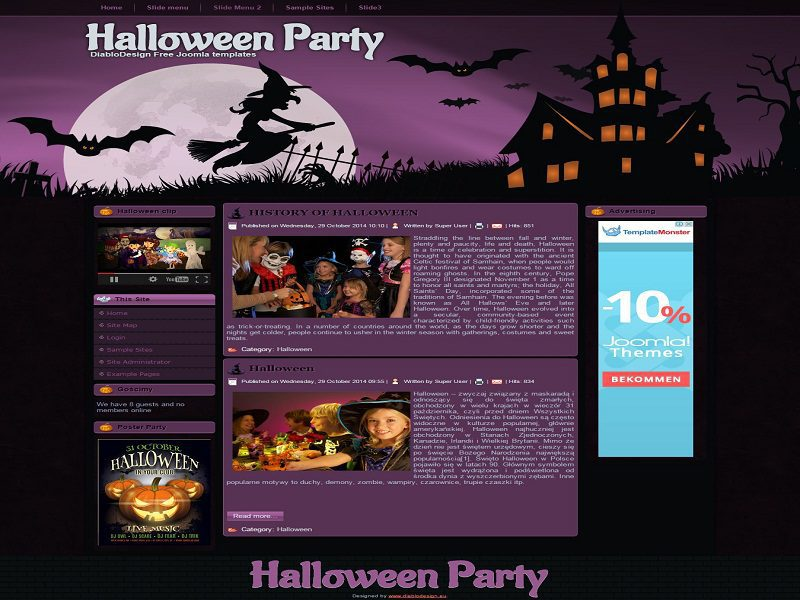HALLOWEEN PARTY – FREE JOOMLA TEMPLATE FOR HALLOWEEN PARTY