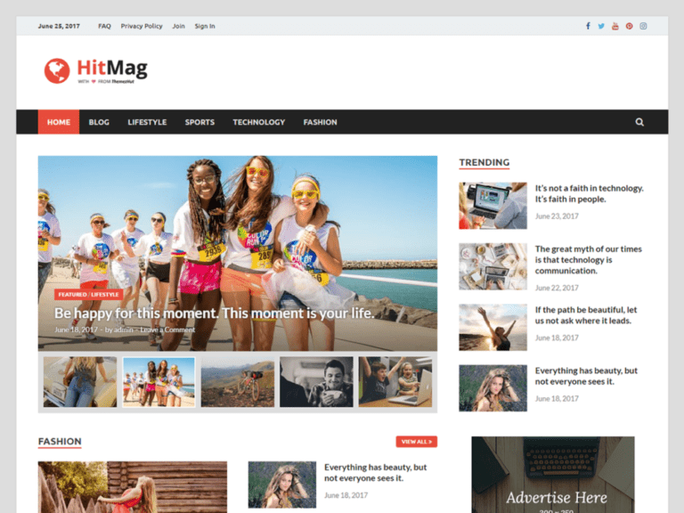 HITMAG FREE BLOG WORDPRESS THEME