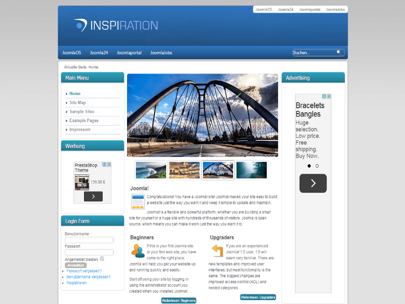 INSPIRATION – BRIDGE FREE JOOMLA TEMPLATE