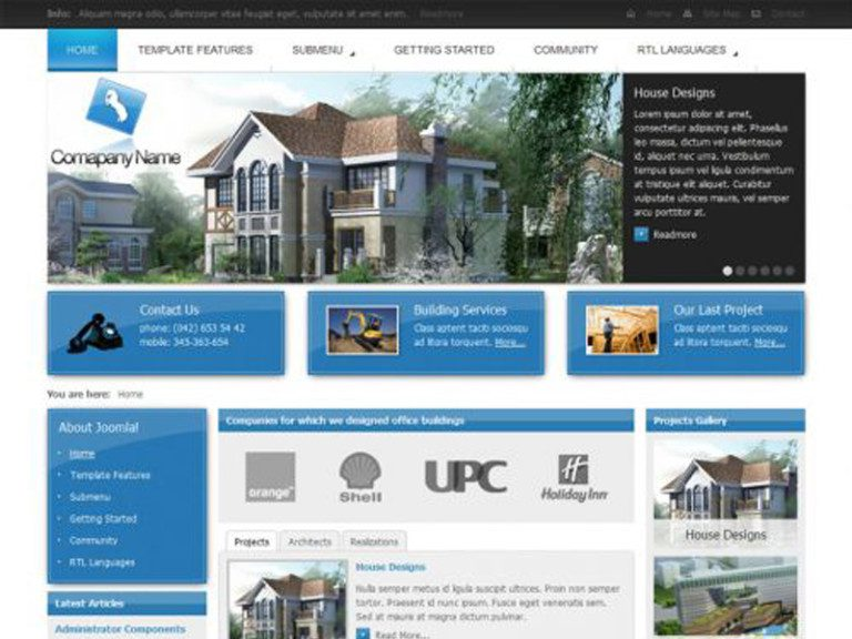 JM ARCHITECTURE FREE JOOMLA TEMPLATE FOR ARCHITECTURE